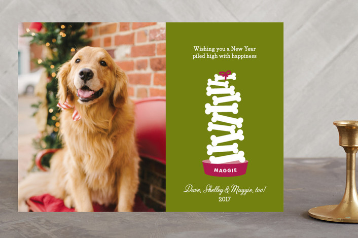 """""""Piled High"""" - Animal, Modern Holiday Photo Cards in Grass by Sandra Picco Design."""