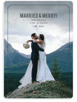 Married and Merry! Holiday Photo Cards