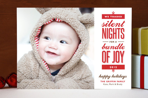 Birth announcementChristmas card combo thenest – Holiday Birth Announcements