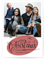 Retro Starbursts Holiday Photo Cards