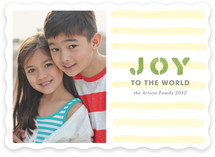 Stamped Joy Holiday Photo Cards