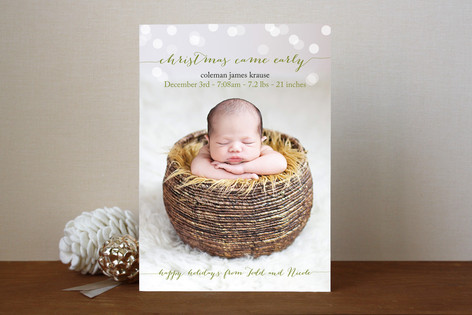Christmas Came Early Holiday Photo Cards