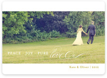 Pure Love Holiday Photo Cards
