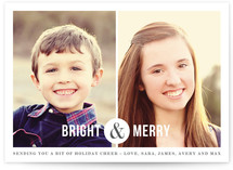 Side by Side Holiday Photo Cards