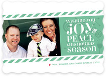 Candy Stripes Holiday Photo Cards