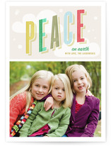 Peaceful Flurry Holiday Photo Cards