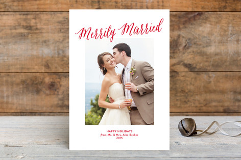 Merrily Married Holiday Photo Cards
