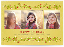 French Berries Holiday Photo Cards