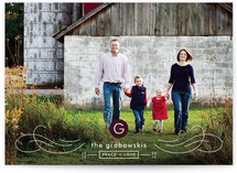 MODERN MONOGRAM Holiday Photo Cards