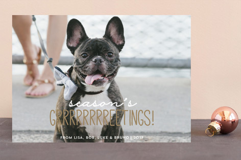 Season's Grrreetings Holiday Photo Cards