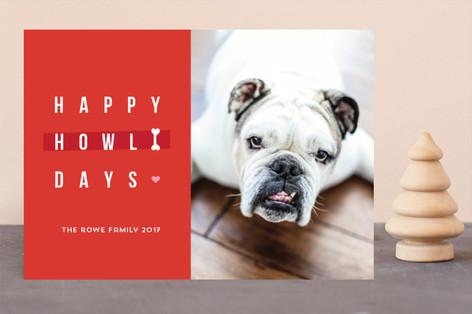 Happy happy Howlidays Holiday Photo Cards
