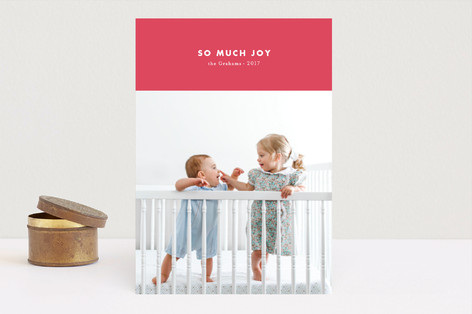 modern & joy Holiday Photo Cards