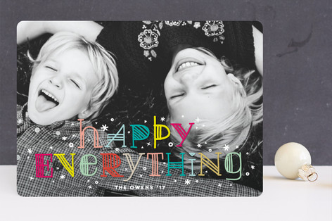 Colorful Happy Everything Holiday Photo Cards