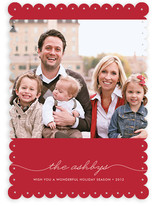 Beautifully Penned Holiday Photo Cards