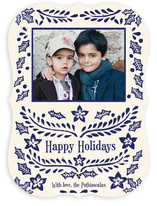 Block Printed Holiday Photo Cards