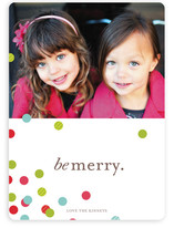 Confetti Scatter Holiday Photo Cards