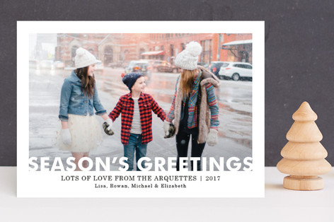 Merry Window Cutout Holiday Photo Cards