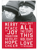 All the Stops Holiday Photo Cards