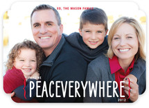 Peace Everywhere Holiday Photo Cards