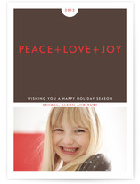 Simple+ Holiday Photo Cards