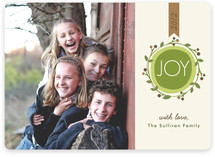 Joyful Modern Wreath Holiday Photo Cards