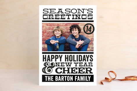 Typography Cheer Holiday Photo Cards