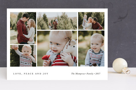 Cropped Collage Holiday Photo Cards