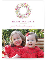 Trimmed Wreath Holiday Photo Cards
