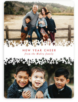 Paper Cut Snow Holiday Photo Cards