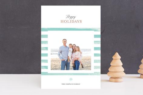 Beachy Snowflake Holiday Photo Cards
