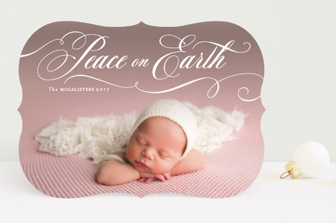 Peacefully Holiday Photo Cards