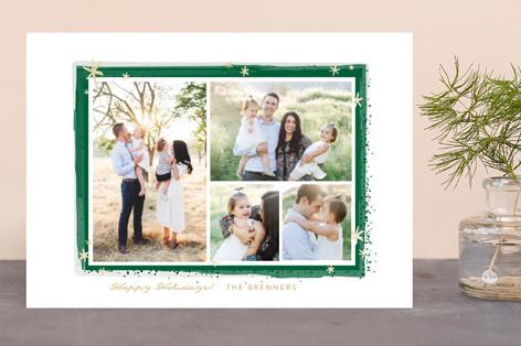 Paint Splash Frame Holiday Photo Cards