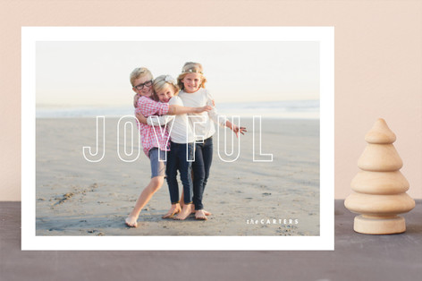 Modern Post Holiday Photo Cards