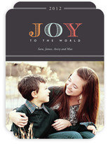 Colorful Joy to the World Holiday Photo Cards