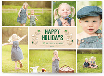 Christmas Blossoms Holiday Photo Cards