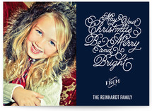 Starry Night Holiday Photo Cards