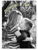 Comfort and Joy Holiday Photo Cards