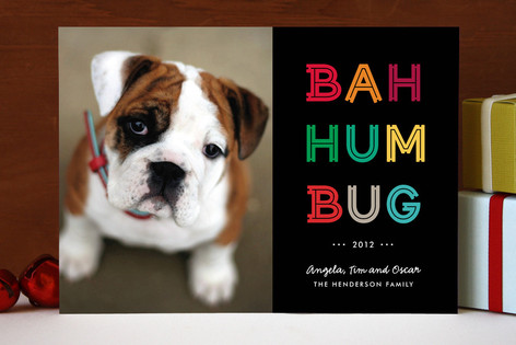 Cheerful Humbug Holiday Photo Cards