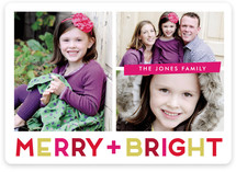 Bright Holiday Holiday Photo Cards