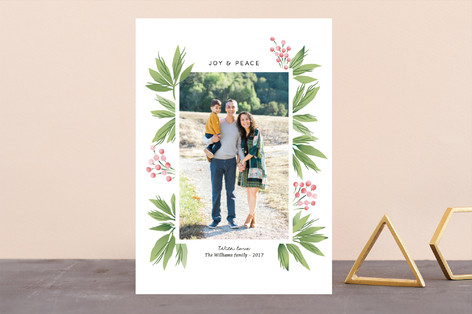 Festive Conifers Holiday Photo Cards