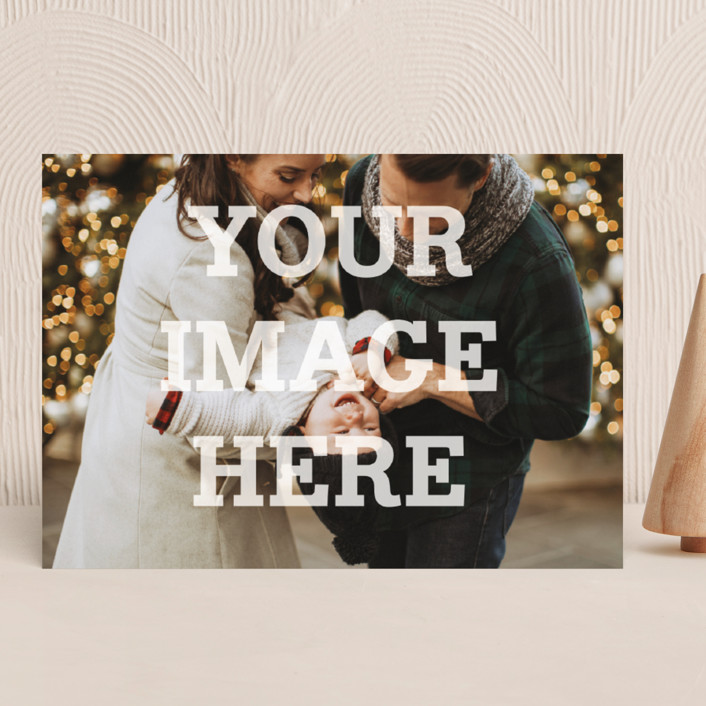 """""""The Big Picture"""" - Minimalist, Full-Bleed Photo Holiday Photo Cards in White by Minted."""