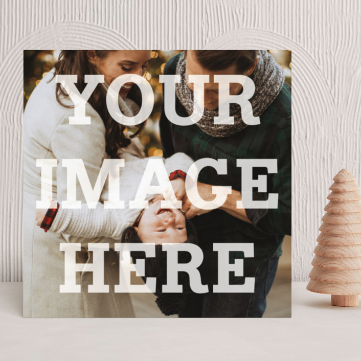 """The Big Picture"" - Minimalist, Full-Bleed Photo Holiday Photo Cards in White by Minted."