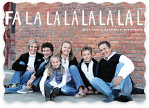 Handlettered Fa La La La La Holiday Photo Cards