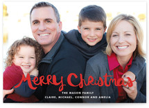 Handlettered Merry Christmas Holiday Photo Cards
