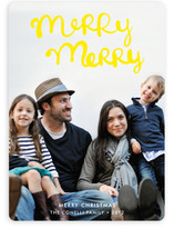 Handlettered Merry Merry Holiday Photo Cards