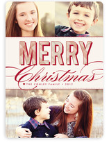 Christmas Plaid Holiday Photo Cards