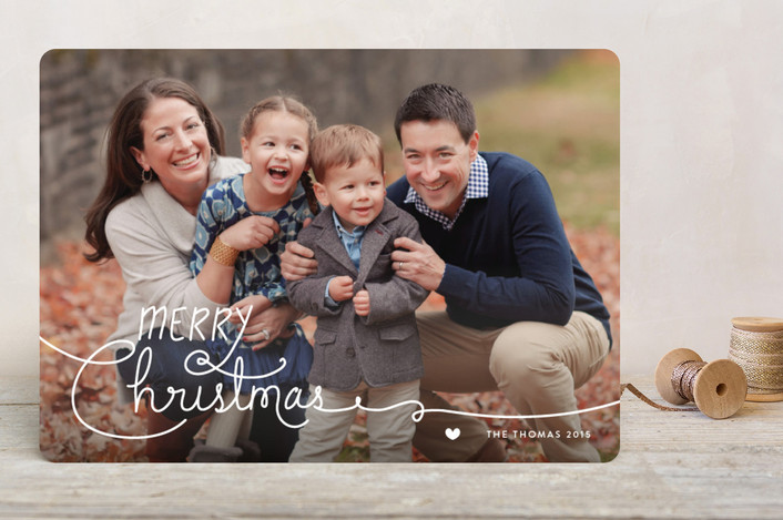 Handwritten Holidays Holiday Photo Cards
