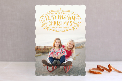 Very Merry Flourish Holiday Photo Cards