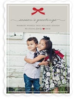 Paris + Vintage Holiday Ribbon Holiday Photo Cards