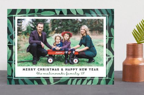 Botanical Holiday Photo Cards